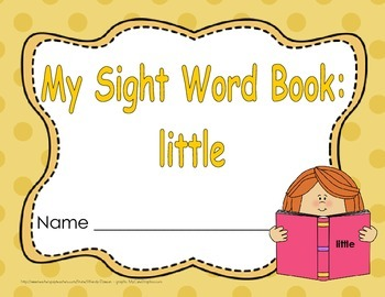 "Sight Word Book and Emergent Reader ""little"""