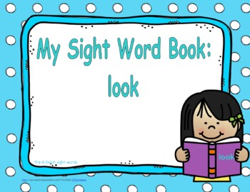 """Sight Word Book and Emergent Reader """"look"""""""