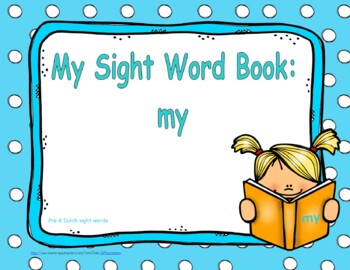 """Sight Word Book and Emergent Reader-""""my"""""""
