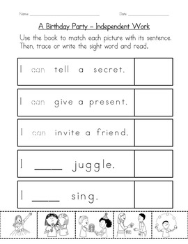 "Sight Word Book and Practice for ""Can""  Color the Sight Word Book 18"