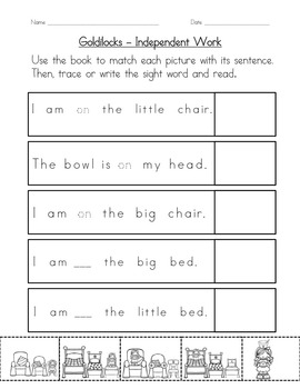 """Sight Word Book and Practice for """"On""""  Color the Sight Word Book 28"""