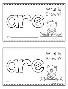 Sight Word Book (are)