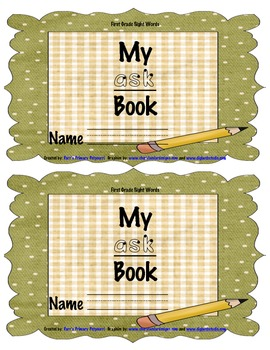 Sight Word Book - ask