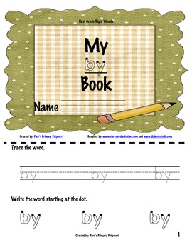 Sight Word Book - by