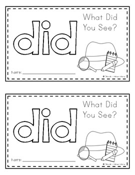 Sight Word Book (did)