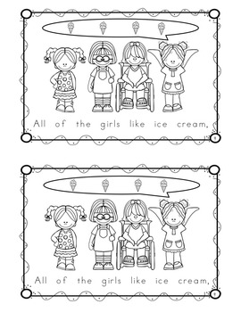 """Sight Word Book for """"All"""" Color the Sight Word Book 69"""