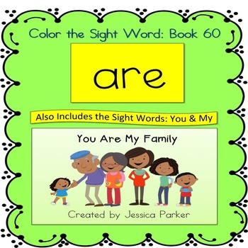 "Sight Word Book for ""Are"" Color the Sight Word Book 60"