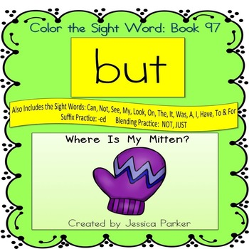 "Sight Word Book for ""But"" Color the Sight Word Book 97"