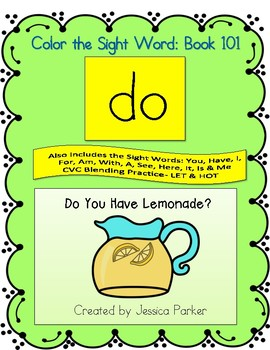 """Sight Word Book for """"Do"""" Color the Sight Word Book 101"""