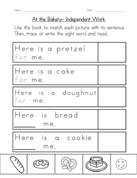 "Sight Word Book for ""For"" Color the Sight Word Book 55"