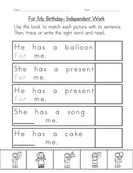 "Sight Word Book for ""For"" Color the Sight Word Book 56"