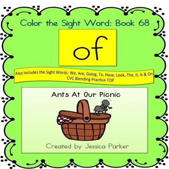 """Sight Word Book for """"Of"""" Color the Sight Word Book 68"""
