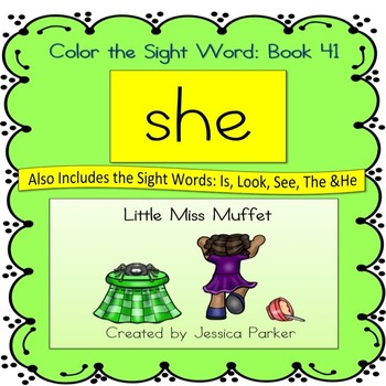 "Sight Word Book for ""She"""