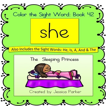 "Sight Word Book for ""She"" Color the Sight Word Book 42"