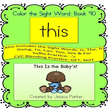 """Sight Word Book for """"This"""" Color the Sight Word Book 90"""