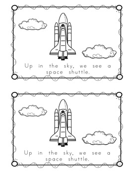 "Sight Word Book for ""Up"" Color the Sight Word Book 77"