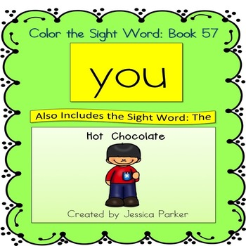 "Sight Word Book for ""You"" Color the Sight Word Book 57"