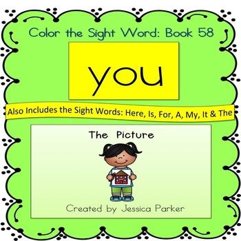 "Sight Word Book for ""You"" Color the Sight Word Book 58"