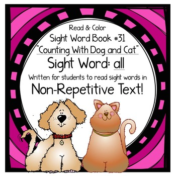 """Sight Word Book for the Sight Word """"all""""; Sight Word Book #31"""