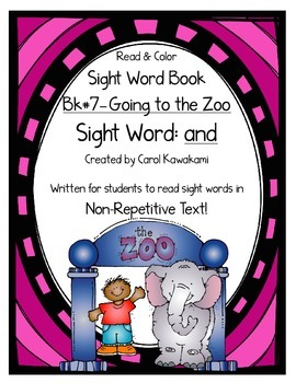 """Sight Word Book for the Sight Word """"and""""; Sight Word Book #7"""