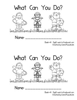 "Sight Word Book for the Sight Word ""can""; Sight Word Book #9"