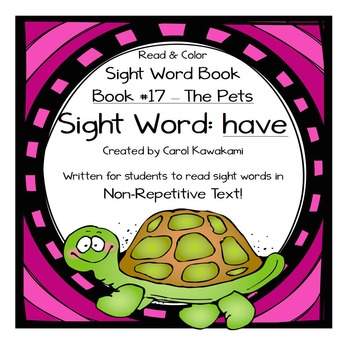 """Sight Word Book for the Sight Word """"have""""; Sight Word Book #17"""