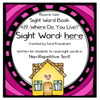 """Sight Word Book for the Sight Word """"here""""; Sight Word Book #19"""