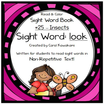 """Sight Word Book for the Sight Word """"look""""; Sight Word Book #25"""