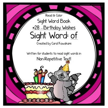"Sight Word Book for the Sight Word ""of""; Sight Word Book #28"