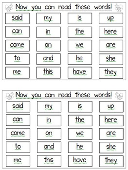 "Sight Word Book for the Sight Word ""said""; Sight Word Book #30"