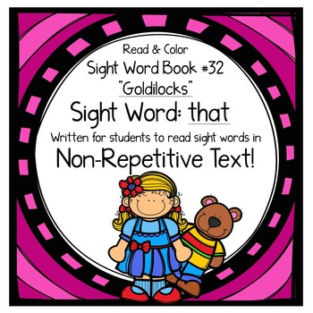 "Sight Word Book for the Sight Word ""that""; Sight Word Book #32"