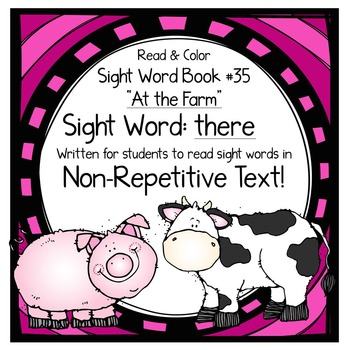 "Sight Word Book for the Sight Word ""there""; Sight Word Book #35"