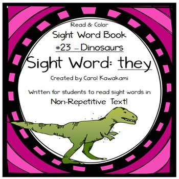 "Sight Word Book for the Sight Word ""they""; Sight Word Book #23"