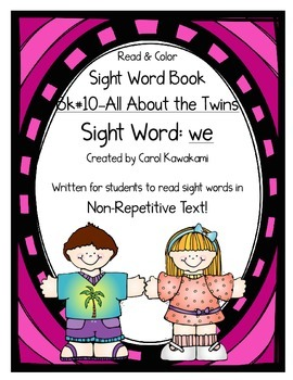 """Sight Word Book for the Sight Word """"we""""; Sight Word Book #10"""