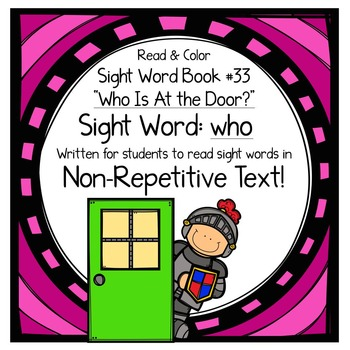 """Sight Word Book for the Sight Word """"who""""; Sight Word Book #33"""