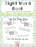 Sight Word Book for word up - Up In The Sky- 3 versions for easy differentiation