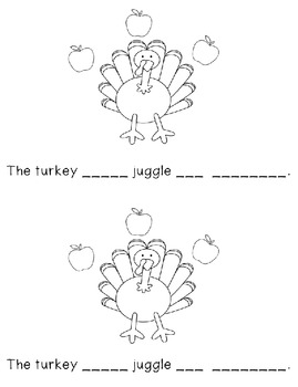 Sight Word Book for words can, an - The Turkey Can Juggle