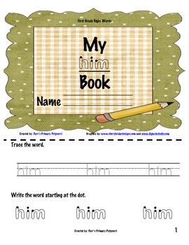 Sight Word Book - him