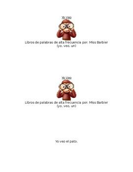 Sight Word Book in Spanish: Yo Veo El...
