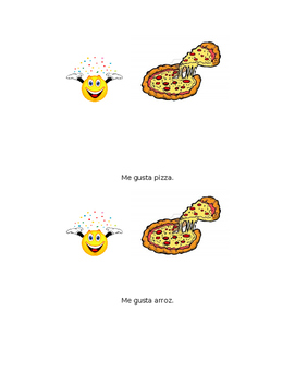 Sight Word Book in Spanish: Me gusta comer (Level A)