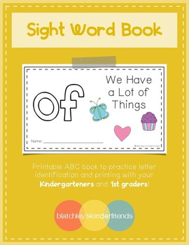 Sight Word Book (of)