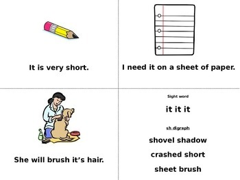 Sight Word Book (of & it)