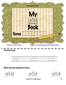 Sight Word Book - old