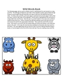 Sight Word Book or Personal Dictionary - Wild Animal/Jungle Theme
