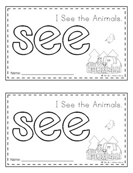 Sight Word Book (see)