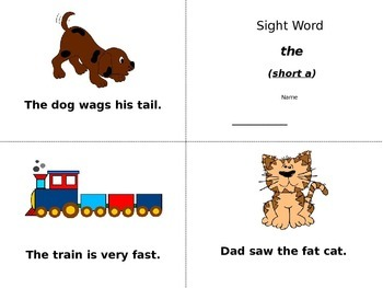 Sight Word Book (the & to)