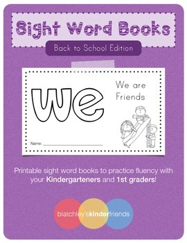 Sight Word Book (we) *Back to School Edition*