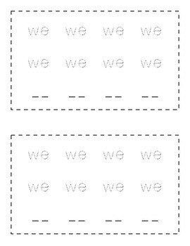 Sight Word Book (we)
