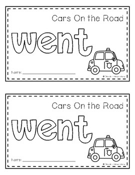 Sight Word Book (went)
