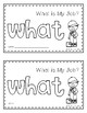 Sight Word Book (what)